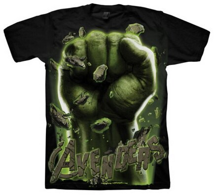 The Avengers Hulk Fist t-shirt comics