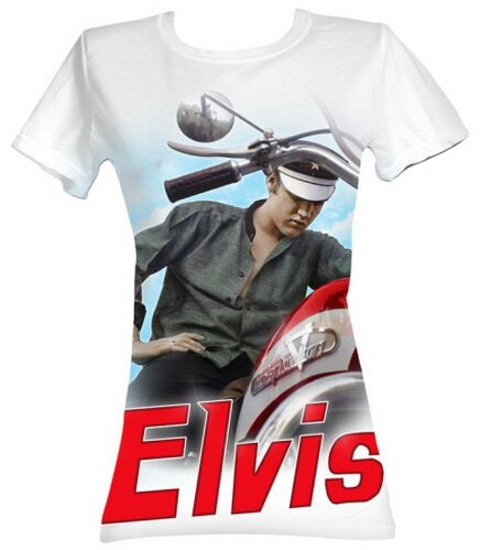 Elvis Presley Color Chopper women's tee shirts music