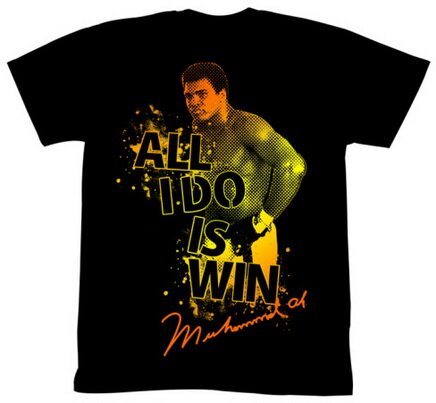 Muhammad Ali All I Do Is Win t-shirt celebrity