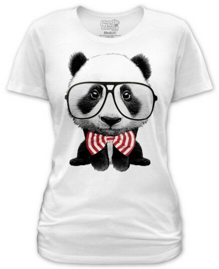 Panda Squared women's t-shirts nature and animals
