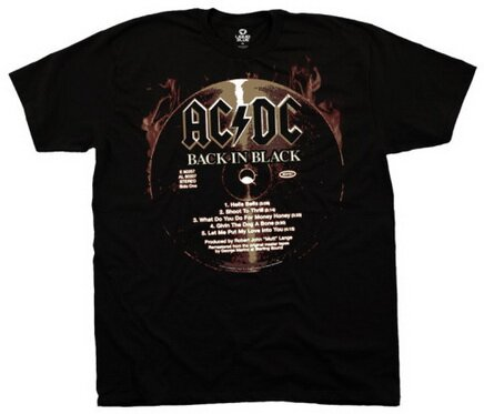 AC/DC Back In Black CD tshirt music