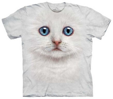 Ivory Kitten Face T-Shirt Nature and Animals