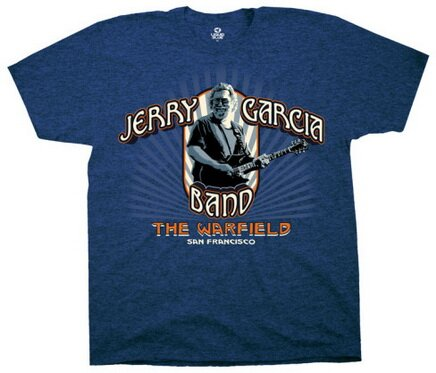 Jerry Garcia JGB Warfield t-shirt music