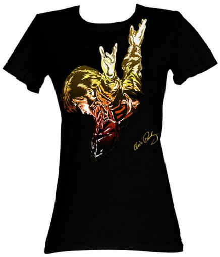 Elvis Presley Red Flame Women's T-Shirt Music