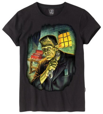 Universal Monsters Frank Get Ready T-Shirt Fantasy