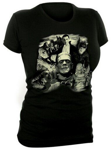 Universal Monsters Glow in the Dark Monster Collage T-Shirt Fantasy