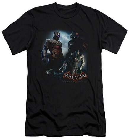 Batman: Arkham Knight - Face Off Slim Fit T-Shirt Video Game