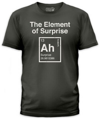 Element Of Surprise Slim Fit T-Shirt Funny