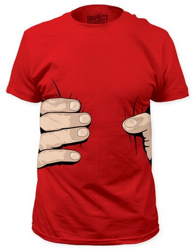 Giant Hand Costume Tee Slim Fit TShirt Funny