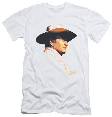 John Wayne Painted Profile T-Shirt Celebrity