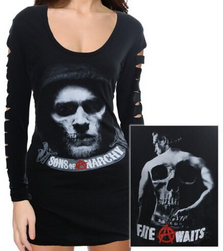 SOA Hell Awaits Sleeve Mini Dress Women's T-Shirt TV