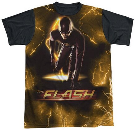 The Flash Bolt Black Back T-Shirts Comics