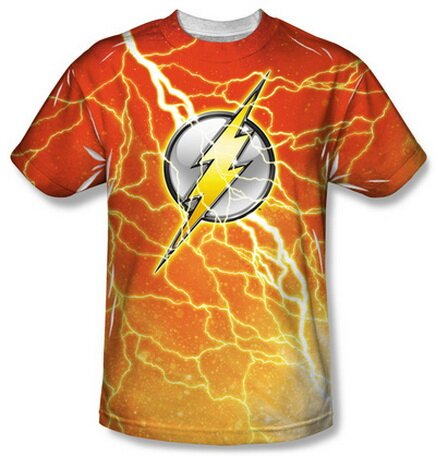 The Flash Lightning Logo T-Shirt Comics