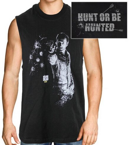 Walking Dead Shooting Rick Sleeveless T-Shirt TV