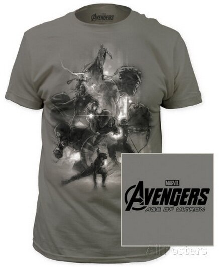Age of Ultron - Avengers Sketch T-Shirt Movie