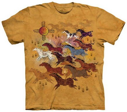 Horses & Sun T-Shirt World Culture