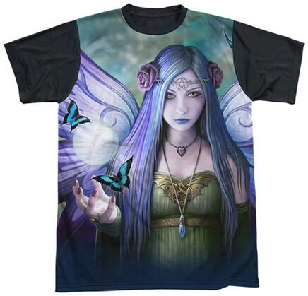 Mystic Aura Black Back T-Shirt Fantasy Art