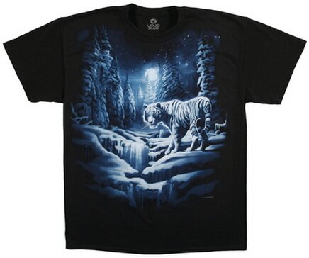 Snow Tiger T-Shirt Nature and Animals