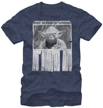 Star Wars Free Words Of Wisdom T-Shirts Movie